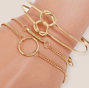 Gold Plated Arm Candy Bracelets & Cuff